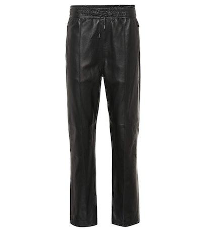Coya Leather Trackpants
