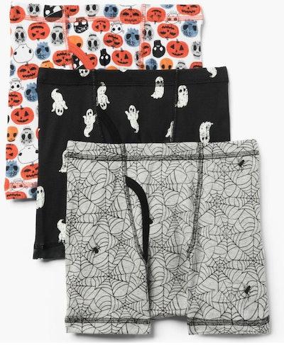 Black Halloween Briefs 3-Pack