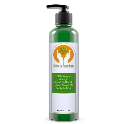 Wellness Prioritized 100% Vegan Mango Seed Butter & Hemp Seed Oil Body Lotion