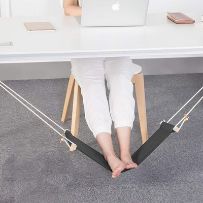 Foot Hammock Under Desk With Headphones Holder