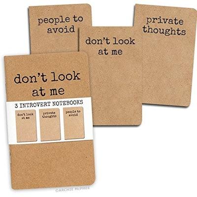 3 Introvert Notebooks - People To Avoid