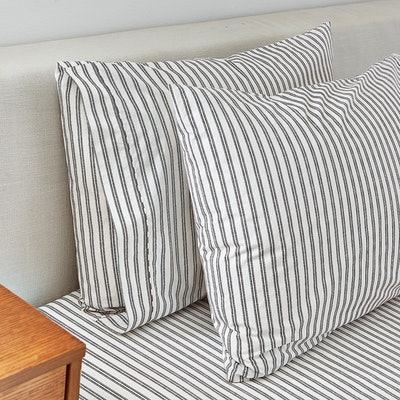 Splendid Ticking Stripe Standard Pillowcase, Pair