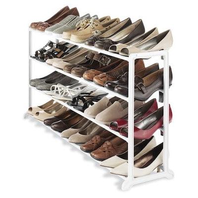 Whitmor 20 Pair Shoe Stand White