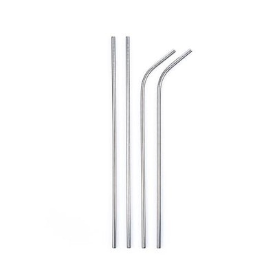 X Straw Stainless Steel Reusable Straws, 4 Pack