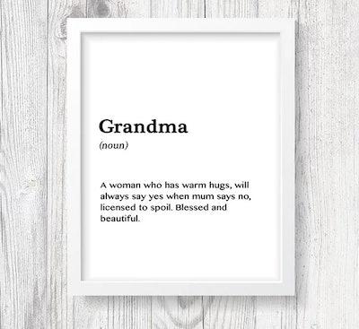 Grandma Print Definition