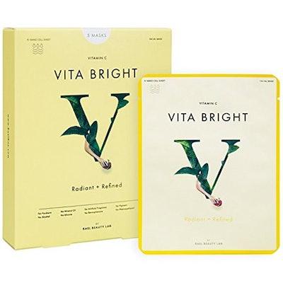 Rael Vita Bright Face Mask With Vitamin C - 5 Sheets