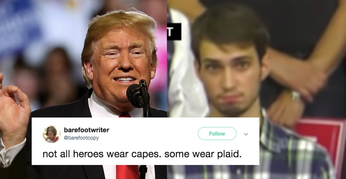 These Memes Of 'Plaid Shirt Guy' At A President Trump Rally Are Viral Perfection