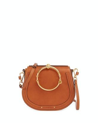 Nile Medium Bracelet Crossbody Bag in Brown