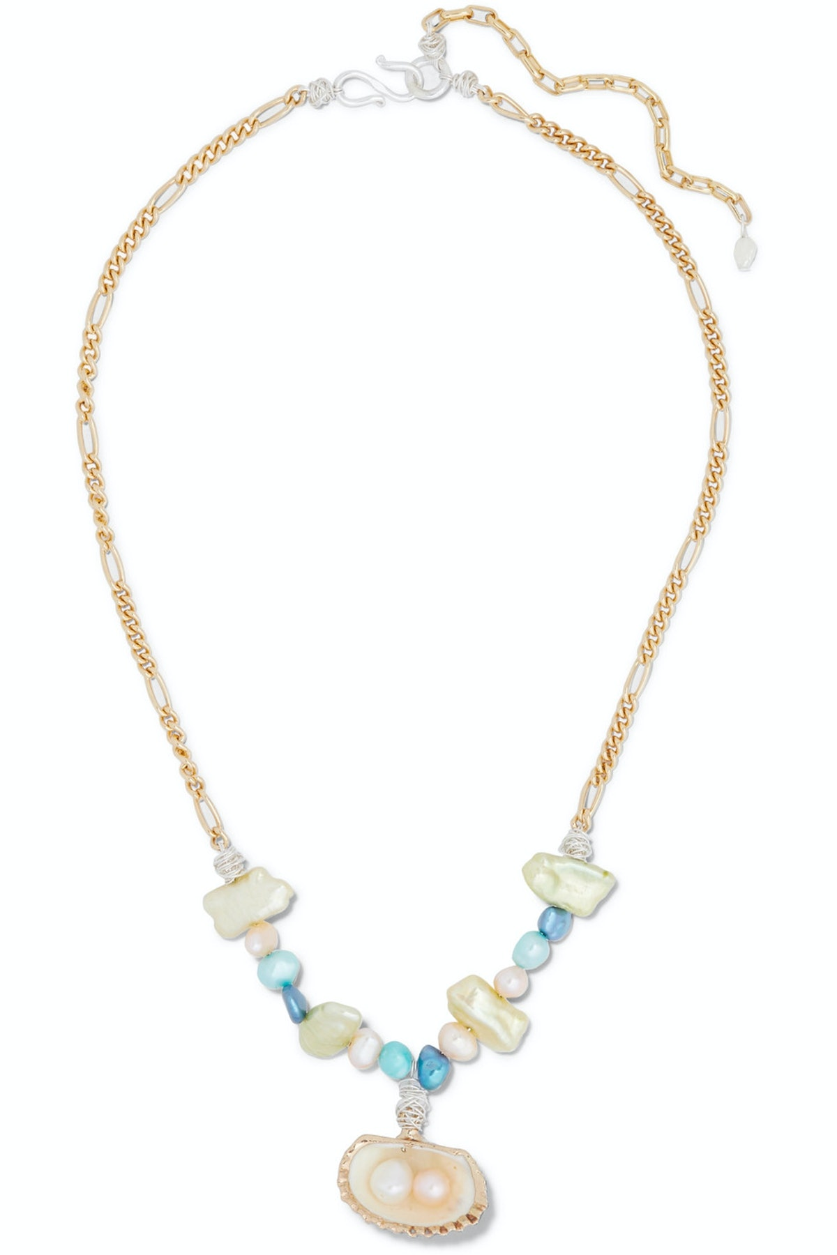 Lady Marmalade Gold-Plated, Shell And Pearl Necklace