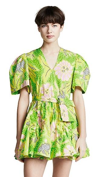 Vivienne Dress in Neon Botanical