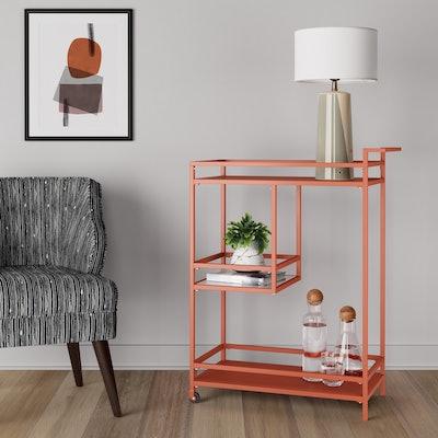 Glasgow Metal Bar Cart Orange Shade - Project 62