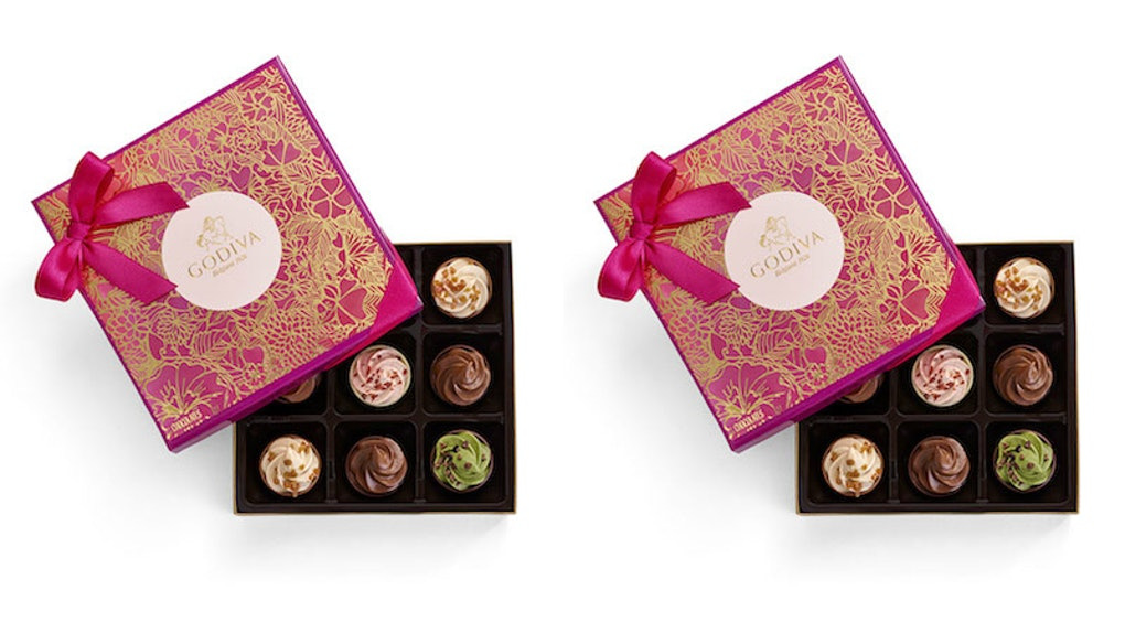 Godiva S Cupcake Inspired Chocolate Gift Box For Valentine S Day