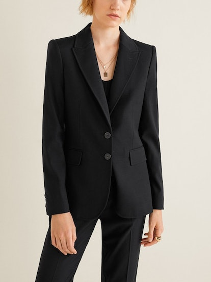 Pockets Structured Blazer