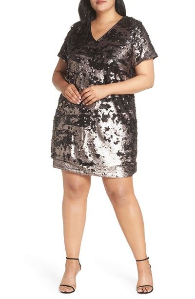 1.State Sequin Shift Dress