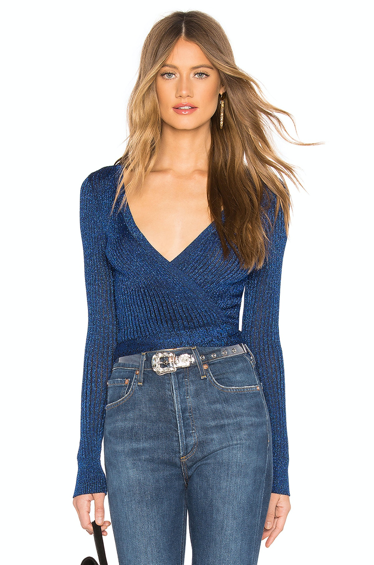 By The Way Raven Wrap Sweater Top