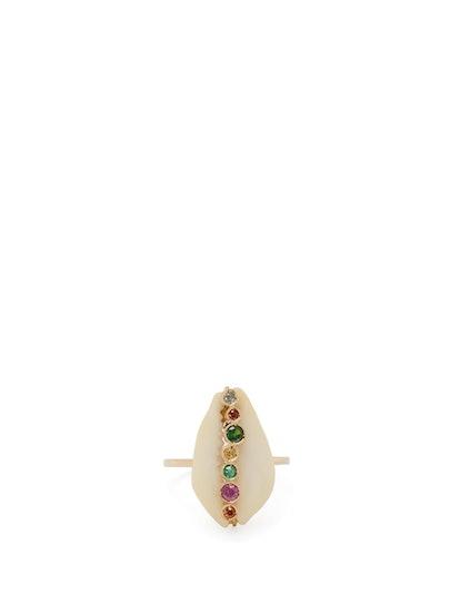 Hamar 18kt Gold, Sapphire & Shell Ring