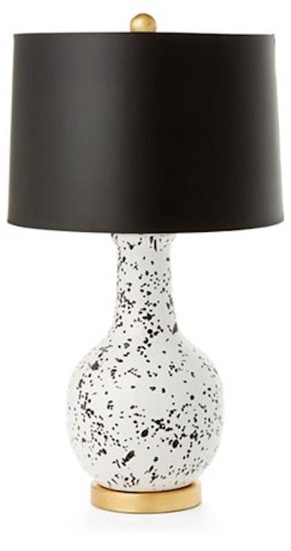 Madison Table Lamp, White/Black
