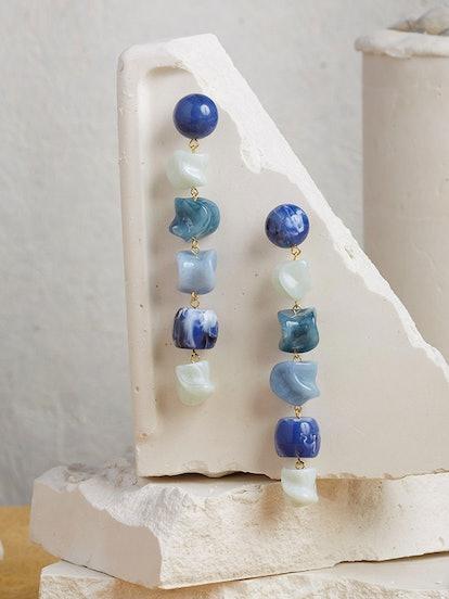 Leo Earring - Blue Multi