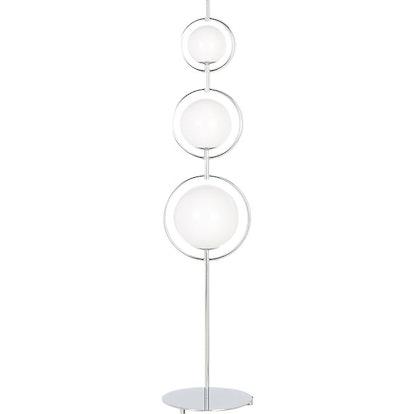 Saturno Globe Nickel Floor Lamp