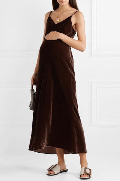 The Ricky Velvet Midi Dress