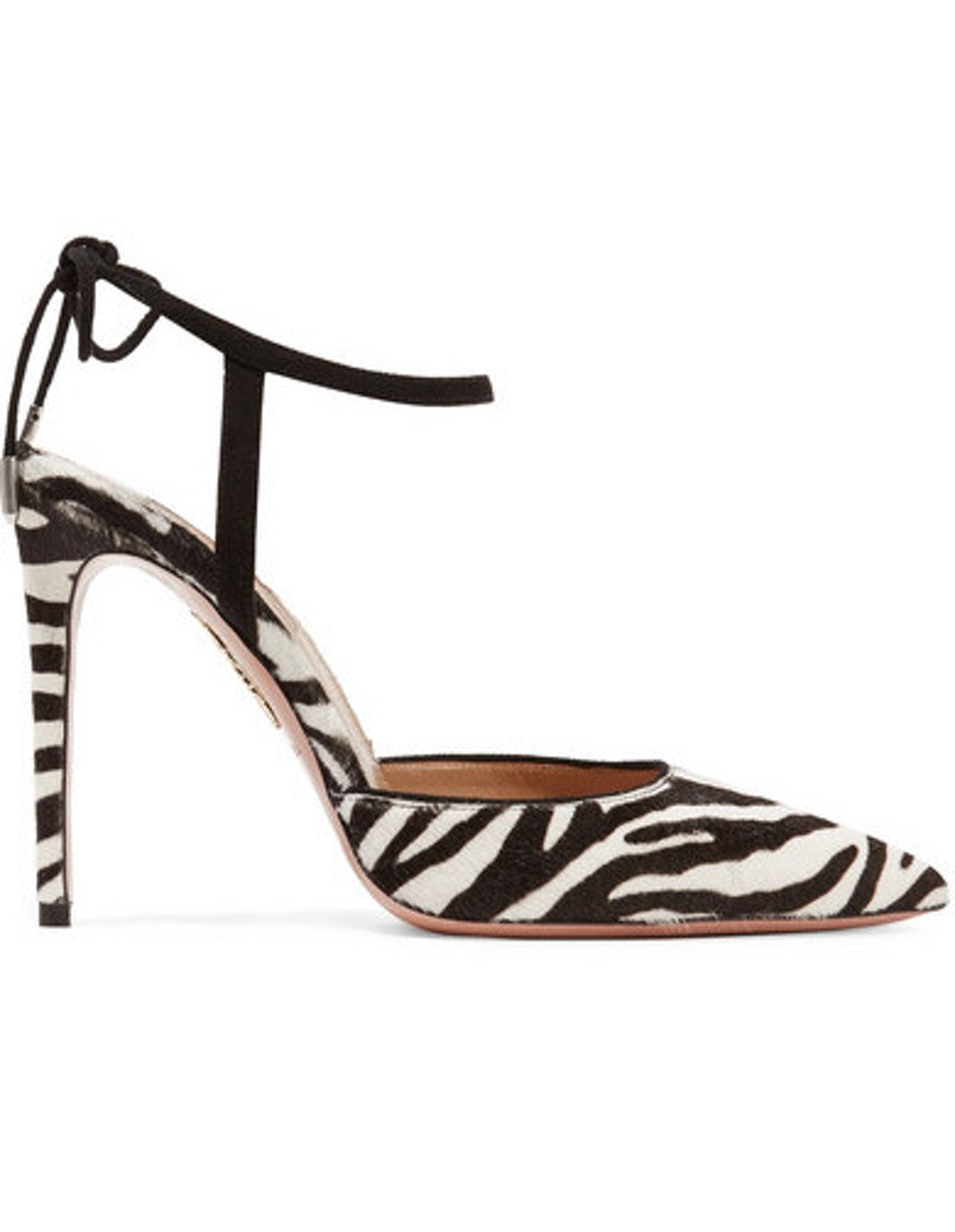 Candance Suede-Trimmed Zebra Print Calf Hair Pumps