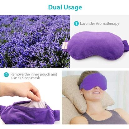 LotFancy Lavender Eye Pillow