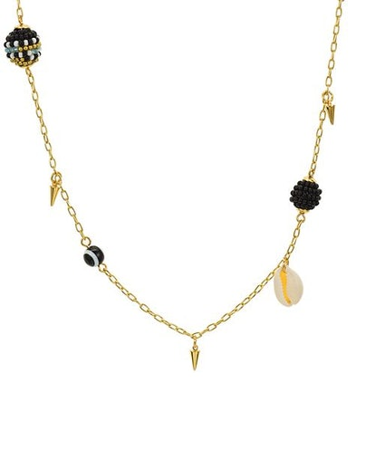 """Shell & Bead Necklace, 34"""""""