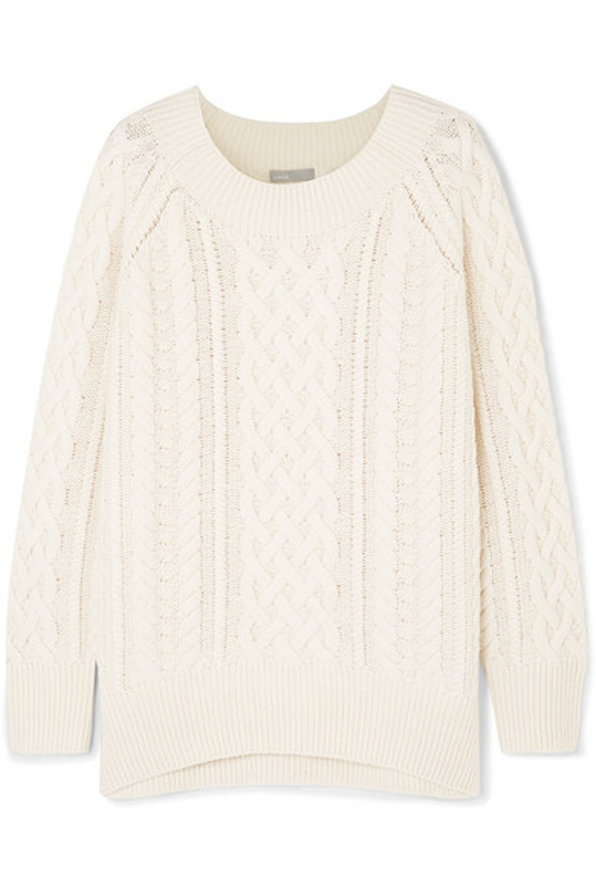 Cable Knit Wool Blend Sweater
