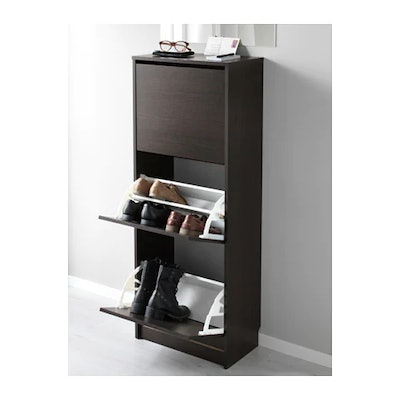 BISSA Shoe Cabinet With 3 Compartments