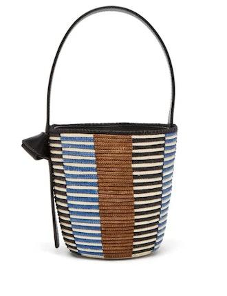 Lunchpail Woven-Sisal Bucket Bag