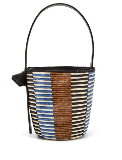 Lunchpail Woven-Sisal Bucket Bag