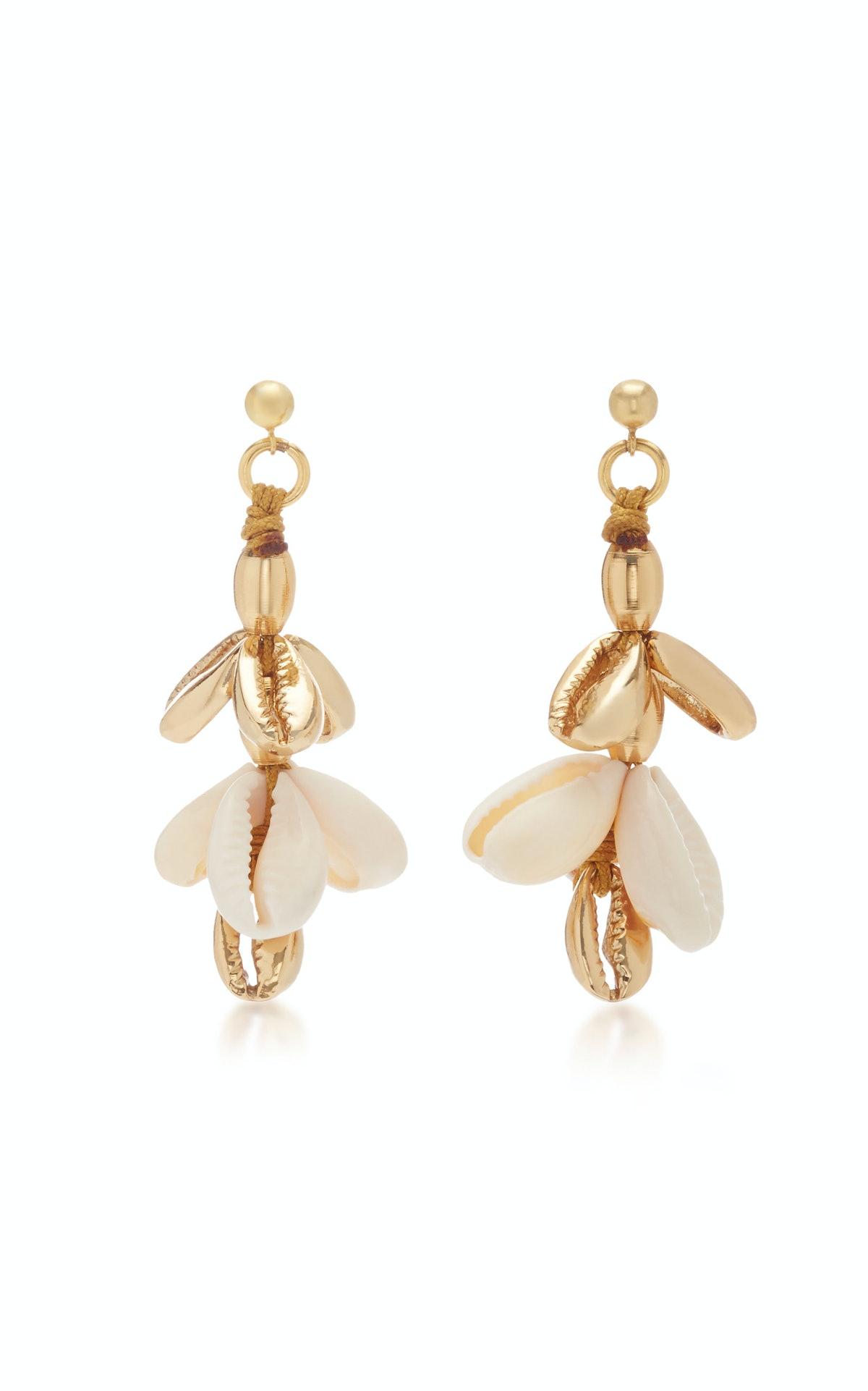 22K Gold-Plated Shell Earrings