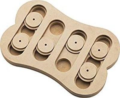 Spot Interactive Seek-A-Treat Shuffle Bone Toy