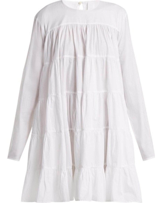 Tiered Cotton Mini Dress
