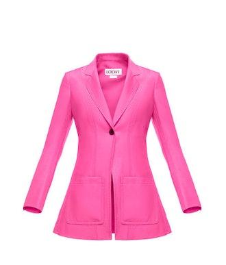 Patch Pocket Jacket in Botanical Pink