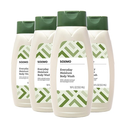 Solimo Everyday Moisture Body Wash, 4 Pack