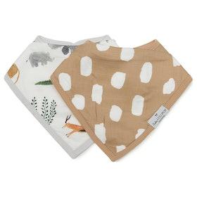 Muslin & Terry Cloth Bib Set