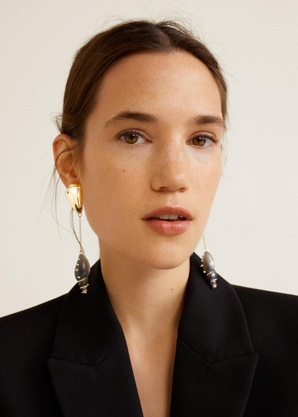 Combined Shell Earrings