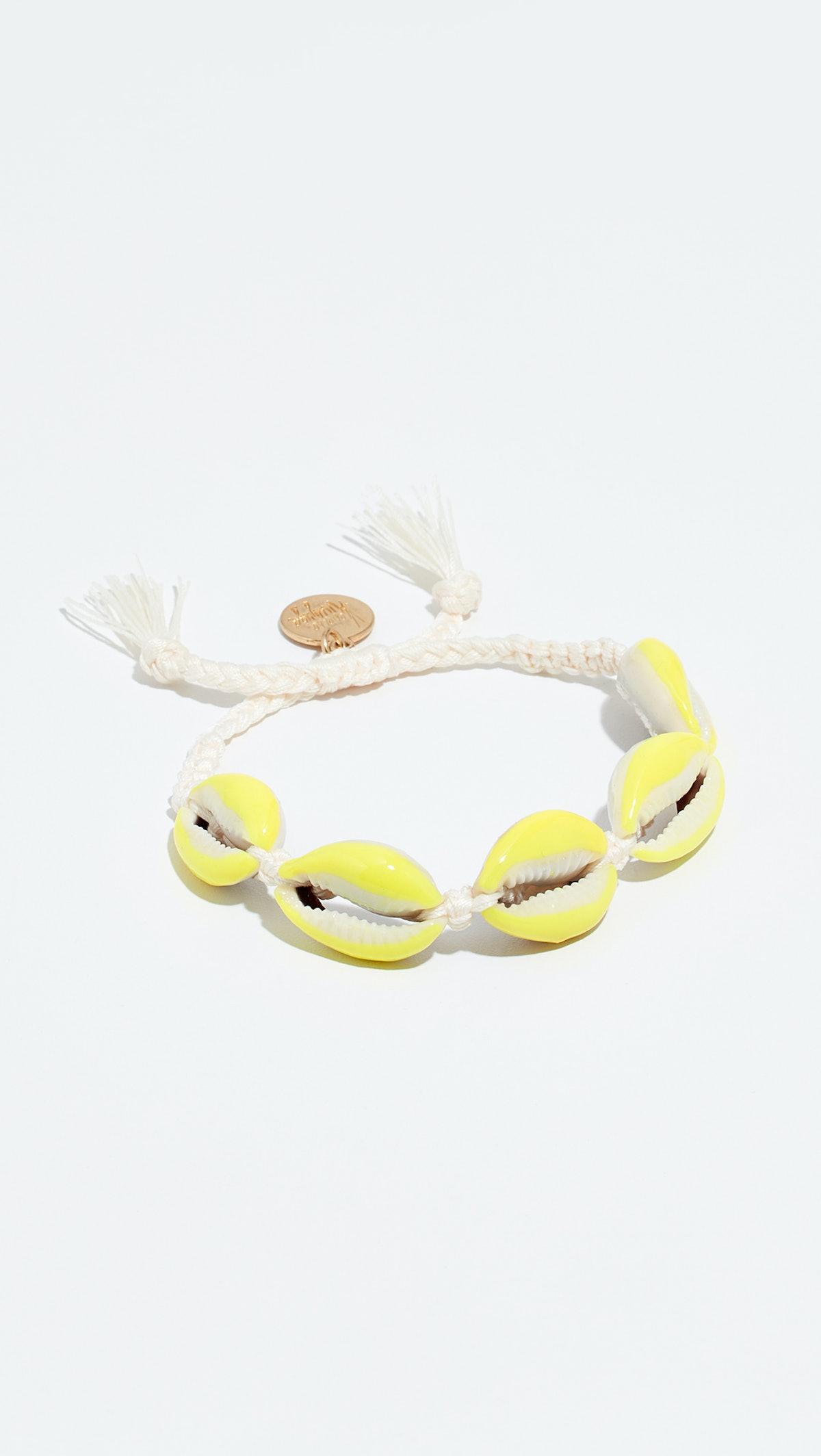 Neon Shell Bracelet