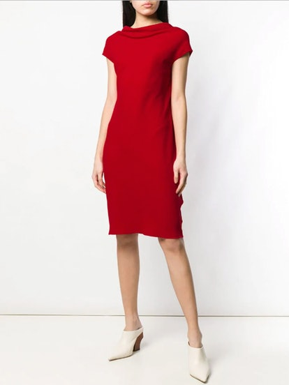 Loose Neck Midi Dress