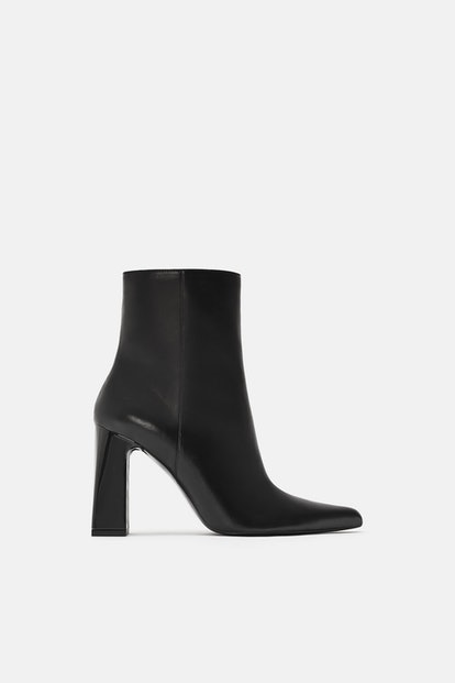 Zara Wide Heeled Ankle Boots