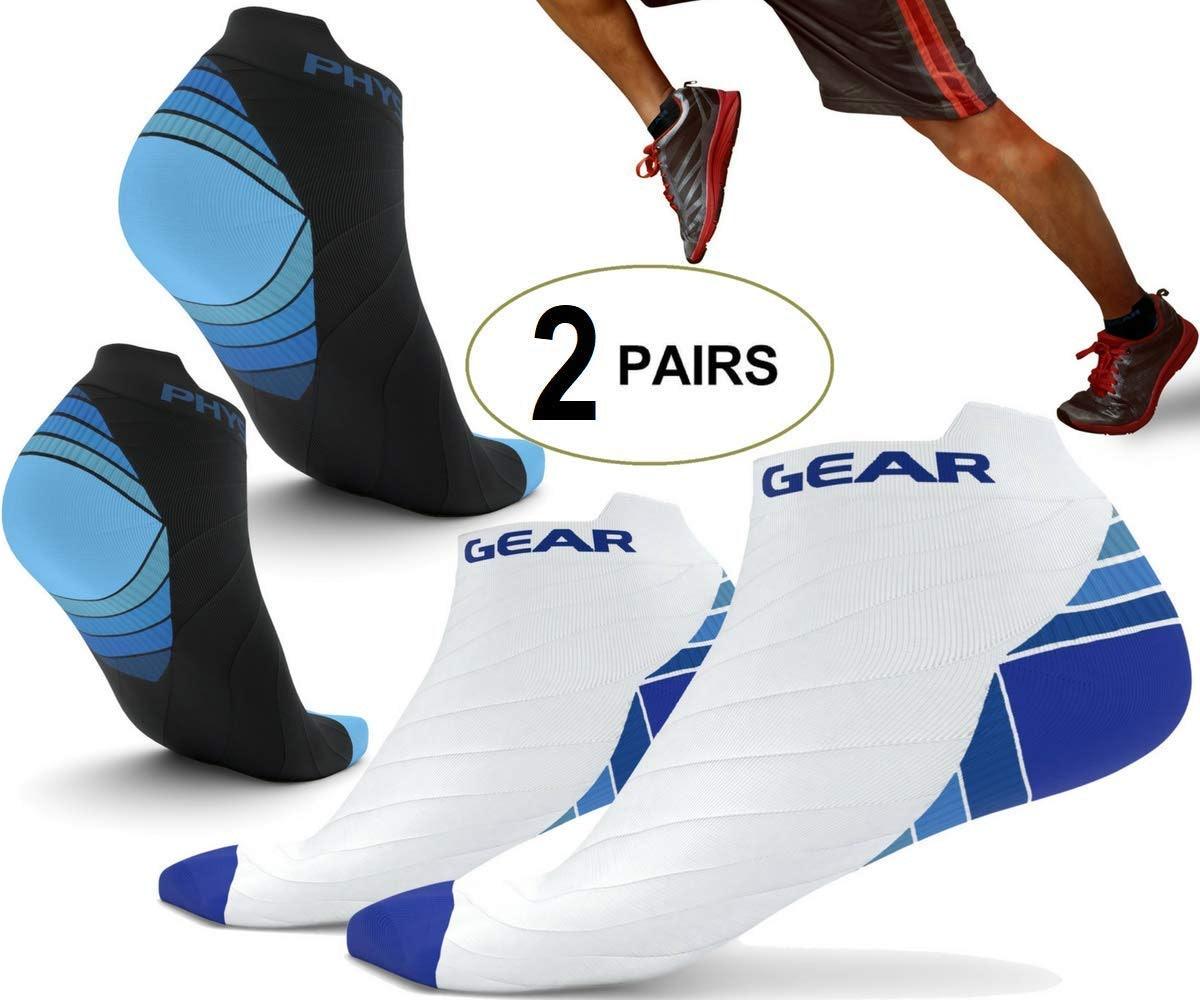 Physix Gear Sport Compression Socks (2 Pack)