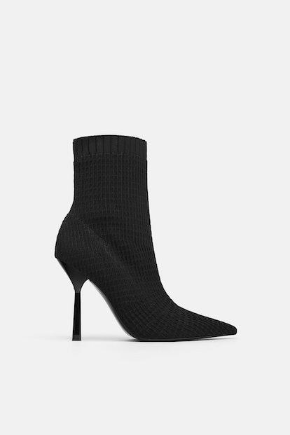 Zara Elastic Heeled Booties