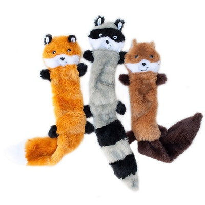 ZippyPaws, Skinny Peltz No Stiffing Squeaky Toy  (3 Pack)
