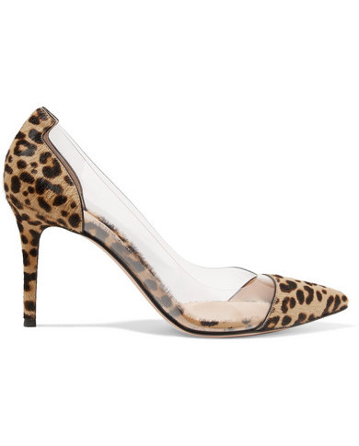 Plexi 85 Leopard-Print Calf Hair And PVC Pumps