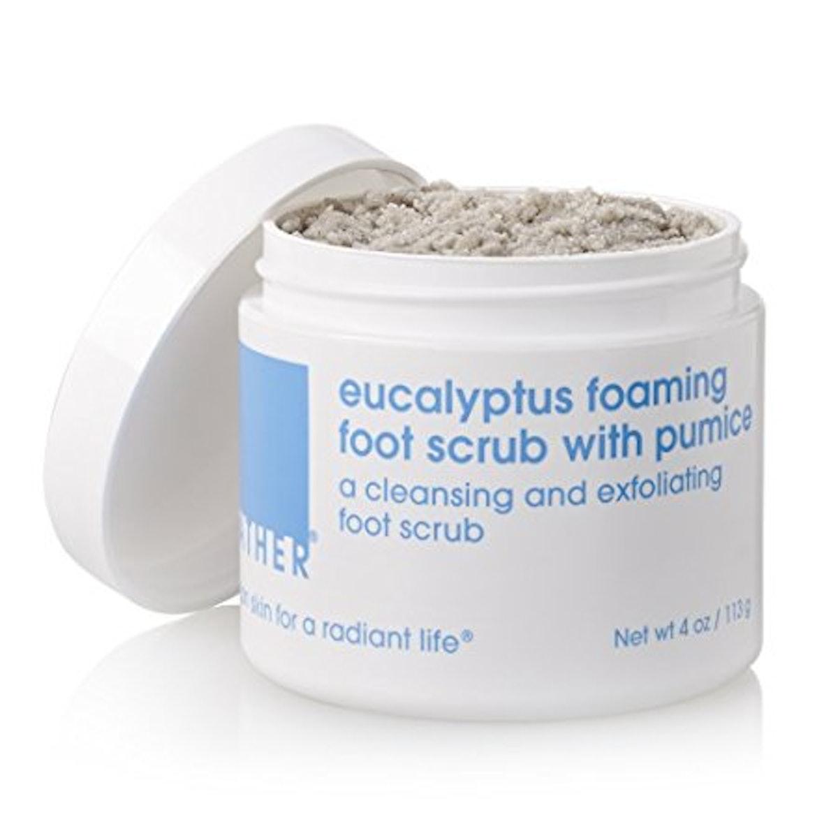 LATHER Eucalyptus Foaming Foot Scrub with Pumice