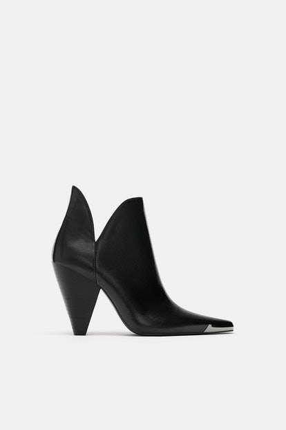 Zara Ankle Boots with Metal Plate