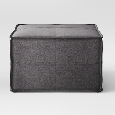 Troxell French Seam Large Ottoman Dark Gray - Project 62