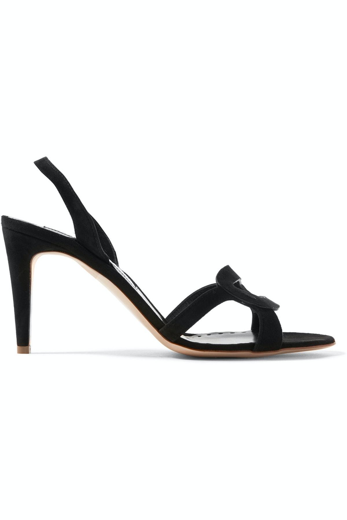 Aurora Suede Slingback Sandals