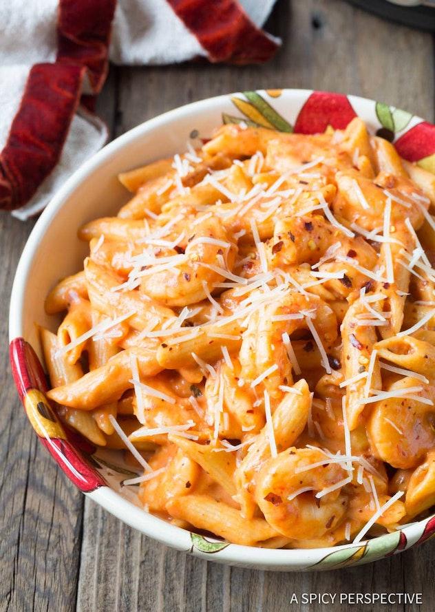 Instant Pot Recipes For Valentine's Day, instant pot shrimp pasta